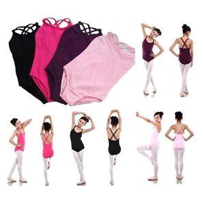 NEW KIDS GIRLS LEOTARD BODYSUIT BALLET DANCE GYMNASTIC SPORTS SLEEVELESS 5-11yrs
