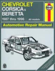 chevrolet corsica beretta automotive repair manual rh ebay com 12H802 Manual Service Manuals