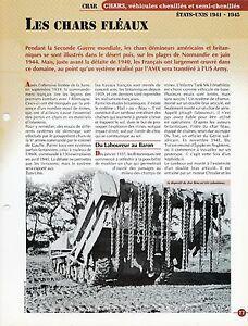 FICHE LES CHARS FLÉAUX ETATS-UNIS 1941-1945 KCfT74BE-09160704-286709348