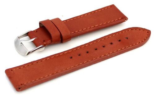 Thick Padded 22mm Brown Leather Watchstrap
