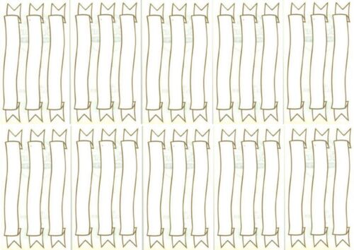 Frances Meyer Gold Banner Scrapbook Stickers 10 Sheets Journaling