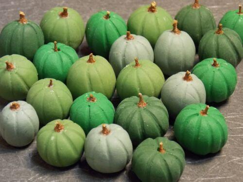 Dollhouse Miniature Fall Halloween Pumpkins 6pc  1:12 scale H26 Shades of Green