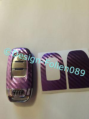 Carbon Lila Folie Schlüssel Audi 8K A3 4G RS Q7 8PA4 S4 A5 8T A6 4F A8 Q5 Q3
