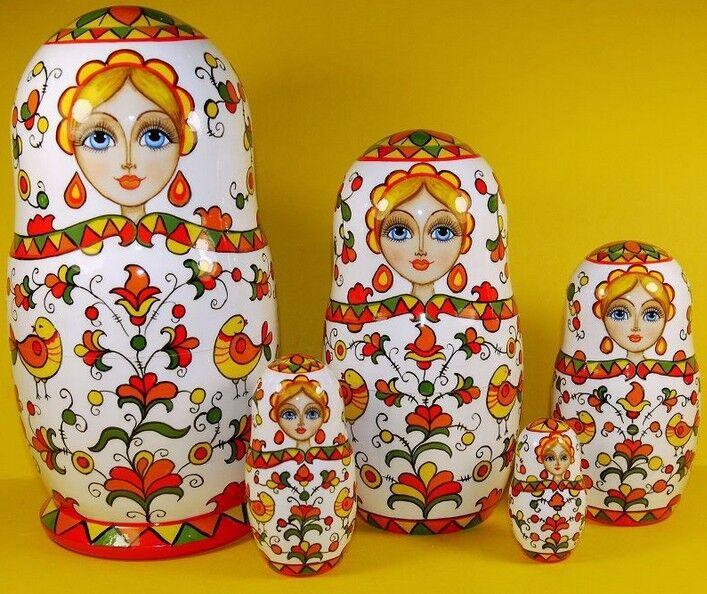 Russian matryoshka  bambola nesting baautoautobushka beauty hefatto  marchio in liquidazione