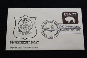 Marine-Abdeckung-1987-Kostuem-Stempel-Decommissioning-Uss-Seawolf-SSN-575-4008