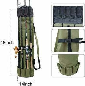 fishing rods backpack carry bag shoulder pack tackle pole