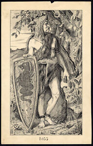 Art Antique Drawing-ambiorix-belgae-historical Figure-item 1055-gerard Claes-1900 Activating Blood Circulation And Strengthening Sinews And Bones