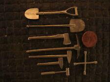 Werkzeug Set Schaufel Axt Hammer Feld Werkstatt RC Panzer LKW Diorama Deko 1/16