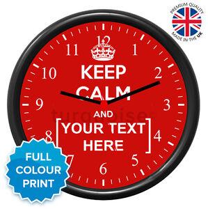 personnalise-keep-calm-and-de-transport-noir-rond-Photo-Horloge-murale-19cm