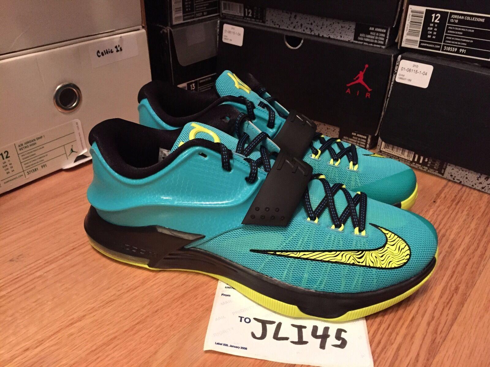 Men's Nike KD Kevin Durant 7 VII Uprising Size 13 Shoes Sneakers Jordan Blue
