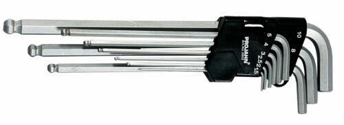 Projahn Hexagonal Boule Clé Allen jeu 9tlg Extra Long 1,5-10mm 3602