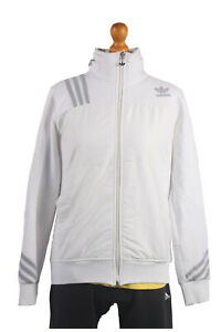Adidas-Vintage-Retro-Shell-Suit-Tracksuit-Top-Jacket-White-Chest-40-039-039-SW1341