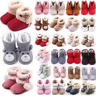 Newborn Kid Baby Girl Boy Snow Shoes Winter Soft Sole Prewalker Crib Plush Boots