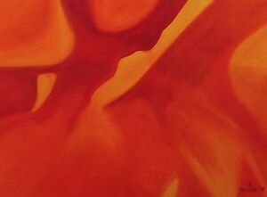 PORTAL-OF-LIGHT-Original-Abstract-Oil-Painting-9-034-x12-034-Orange-Red-Julia-Garcia