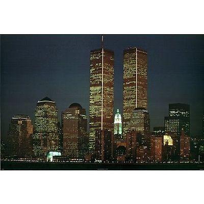 TWIN TOWERS POSTER MIDNIGHT DREAMS 24x36 NEW YORK CITY SKYLINE 36025