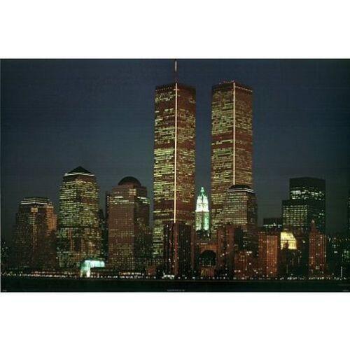 MIDNIGHT DREAMS TWIN TOWERS POSTER 24x36 NEW YORK CITY SKYLINE 36025