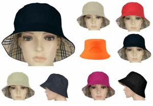 Unisex-Reversible-Cotton-Bucket-Beach-Festival-Haymarket-Sun-Hat-Colour-Choice