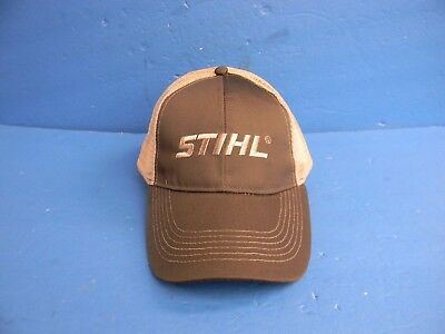 STIHL CHAINSAW HAT DARK GREEN AND TAN MESH NEW OEM STIHL OUTFITTERS APPAREL