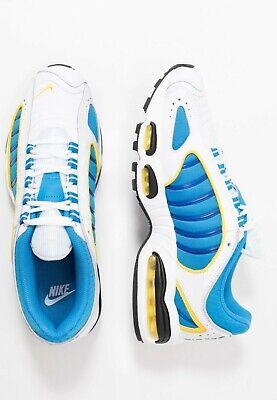 Nike Air Max Vent Arrière IV Hommes Blanc Bleu Jaune Baskets Basket UK 7 11 | eBay