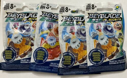 8 BRAND NEW, BEYBLADE MICROS 4-PACKAGES SERIES 3 AGES
