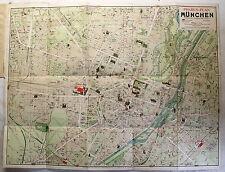Pharus-Plan München um 1910 Maßstab 1:11500 Stadtplan mit Straßenverzeichnis xz