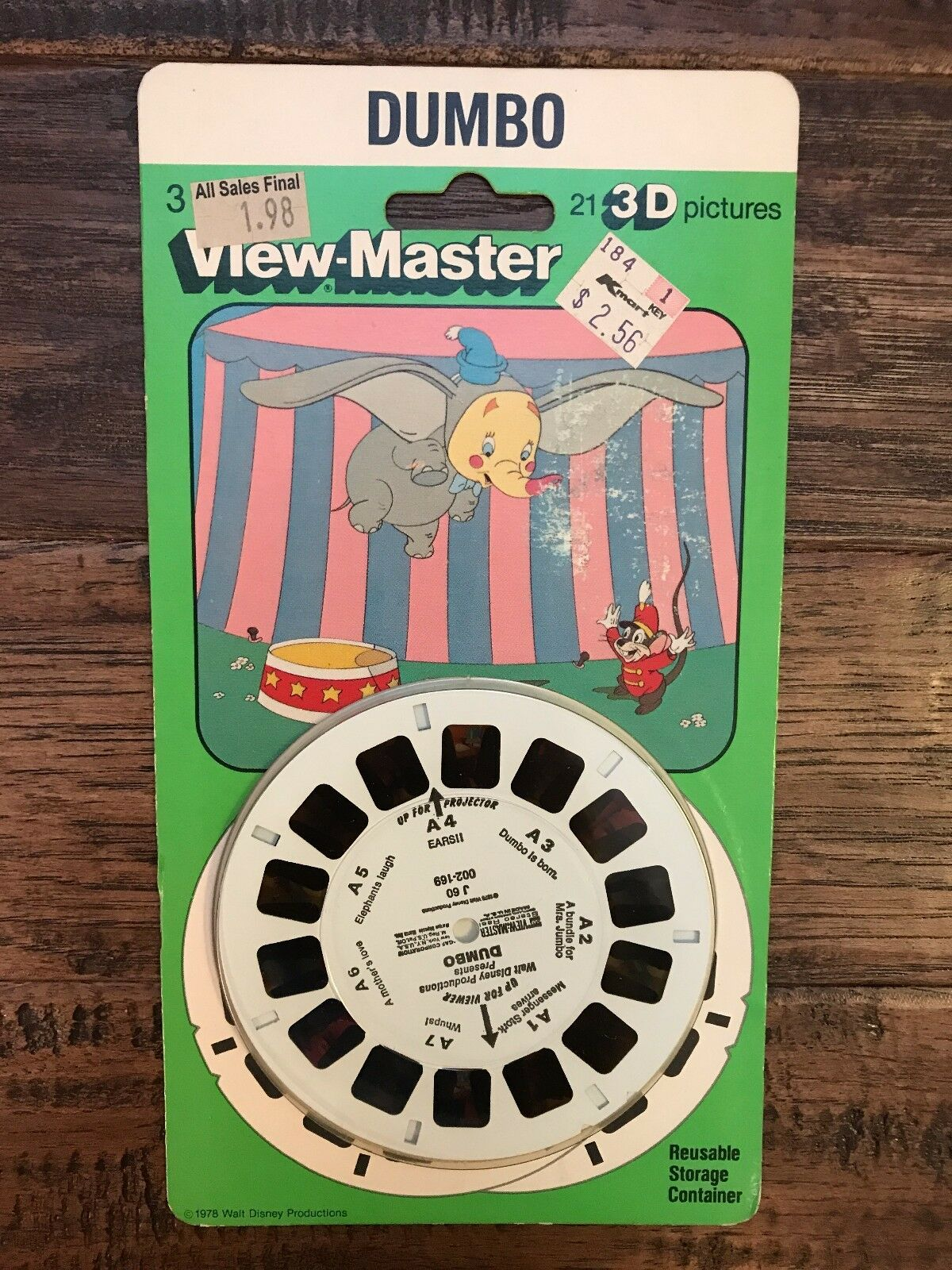 1978 Vintage (View-Master)  DUMBO  (21) 3-D Pictures, NEW  SEALED  RARE