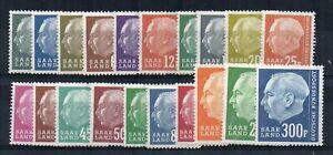 Germany - Saar 1957 set to 300f MNH