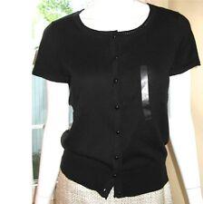 6dddafe0f99c item 6 NWT Ann Taylor Short Sleeve Cotton Cardigan Sweater  60 Black New  -NWT Ann Taylor Short Sleeve Cotton Cardigan Sweater  60 Black New