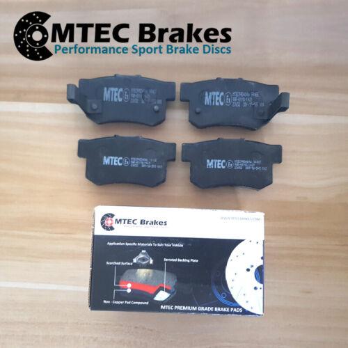 Audi S3 2.0 TFSi Quattro 10//06-12//13Rear Brake Discs /& MTEC Premium Brake Pads