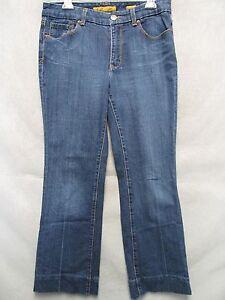 Kleidung & Accessoires Jeans A5449 Seven Marineblau Bootcut Cool Eingeengt Jeans Damen 10