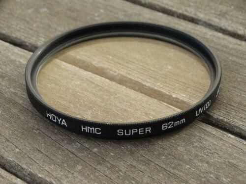 HOYA HMC Super 62mm UV Filtro-limpiado y revisado libre UK FRANQUEO