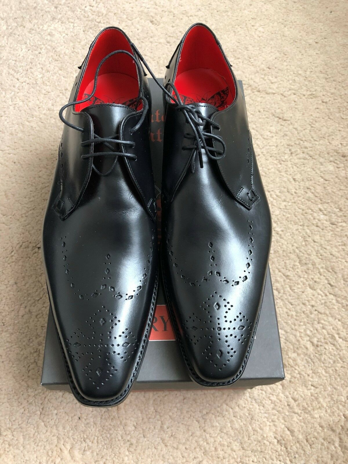 Nouveau Jeffery West 3 Tie Punched Wing Gibson Chaussures UK 7.5 EU 41.5 US 8.5