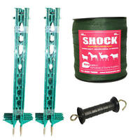 Electric Fence / Fencing: Green 4ft Post,40mm Tape Xvalue Kit