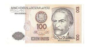 Peru banknote geld geldschein 100 cien intis 1987 ebay peru banknote geld geldschein 100 cien intis 1987 thecheapjerseys Images