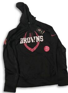 NWT New Cleveland Browns Nike Breast Cancer Awareness Medium Hooded ... 997c590ae