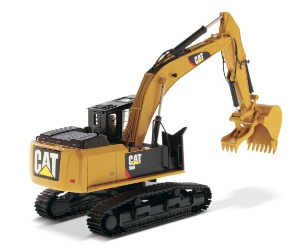 DIECAST MASTERS 85923 1 50 SCALE CAT 568 GF WITH ROAD BUILDING ATTACHMENT  (MIB)