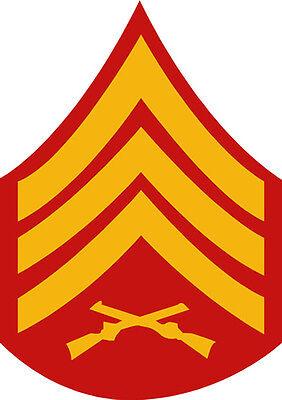 GT Graphics USMC E6 Staff Sergeant Rank Vinyl Sticker Waterproof Decal