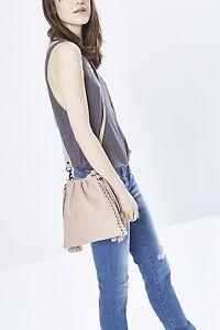 Details About New Rebecca Minkoff Moto Drawstring Crossbody Bag Purse Pale Blush 225