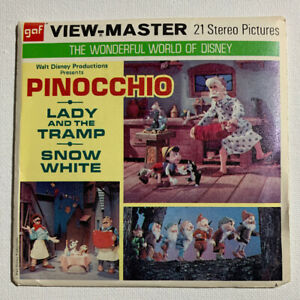 NEW ViewMaster 3 Reels on Card Walt Disneys Lady and the Tramp