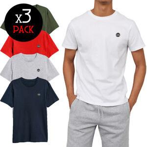 Tris-TWIG-Pack-T-SHIRT-uomo-girocollo-maglia-manica-corta-maglietta-cotone