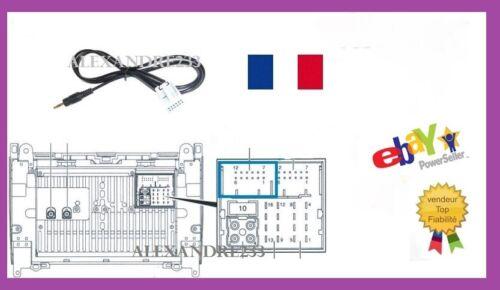ENVOI DE FRANCE CABLE AUXILIAIRE MP3 AUTORADIO MERCEDES Classe B W245