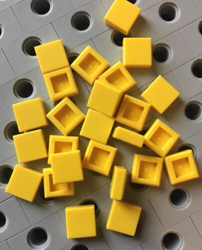Lego 1x1 Yellow Square Flat Tiles Smooth Finish Buildings Roof Floor Lot Of 25