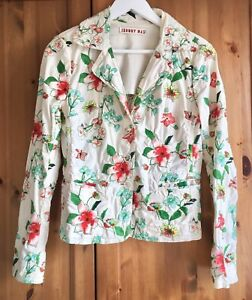 Johnny-Was-Rare-Ivory-Multi-Floral-Heavily-Embroidered-Blazer-Jacket-Small-8-10