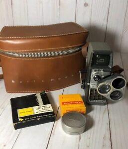 Vintage-Movie-Camera-Bell-amp-Howell-Perpetua-8mm-Electric-Eye-Triple-Turret-Case