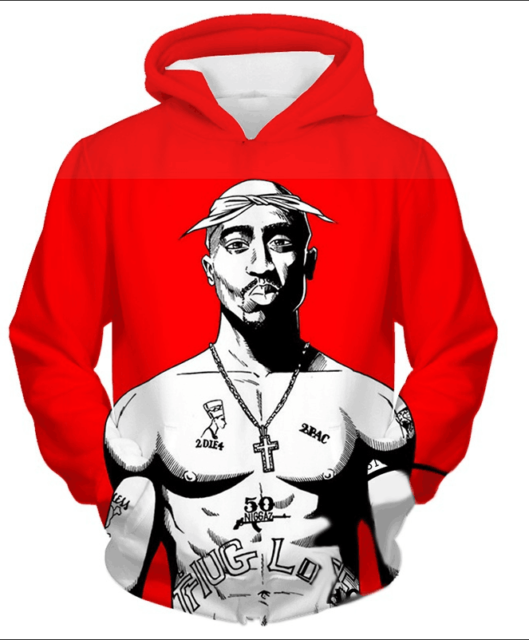 Tupac West Side Gray Hoodie 2pac Pullover Los Angeles Large XL