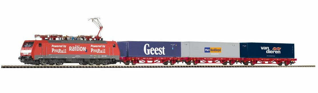 PIKO 97908 start-set containerzug BR 189 con 3 container Carrello NS MERCE NUOVA