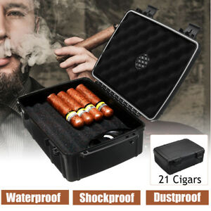 21-Count-Cigars-Humidor-Caddy-Case-Storage-Box-Waterproof-Shockproof-Home