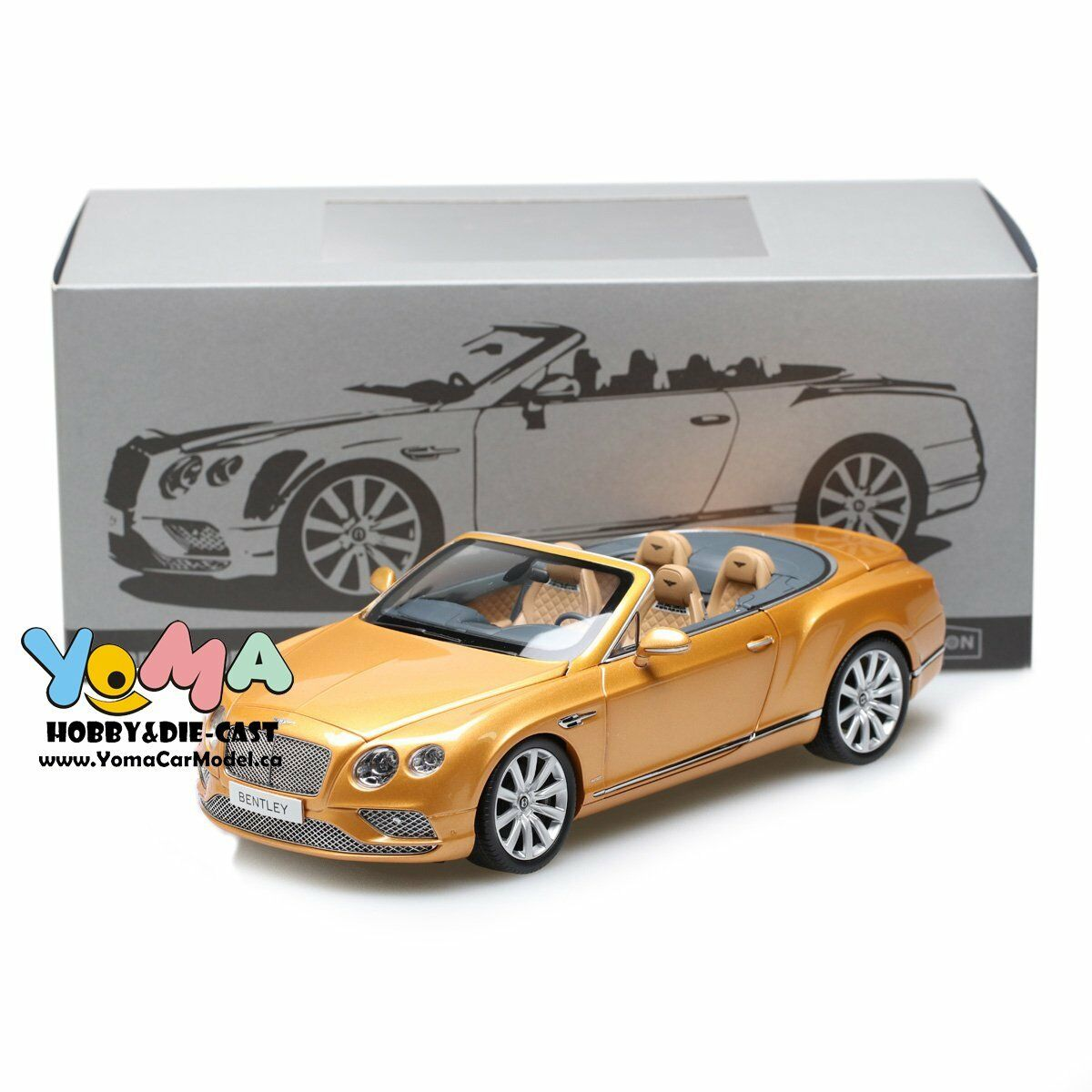 Paragon 1 18 2016 Bentley Continental GT Converdeible LHD oro PA-98232L