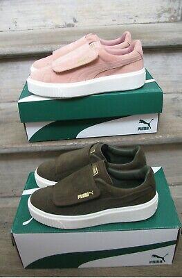 Details zu Puma Suede Platform Strap 364586 01 Damen Sneaker Turn Schuhe Oliv Grün NEU OVP