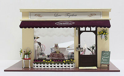 DOLLHOUSE MINIATURE OF STORE , A-011 , LOVE TOGETHER COFFEE SHOP